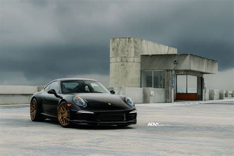 modified porsche 911 black porsche 911 with adv7r mv 2 cs series wheels