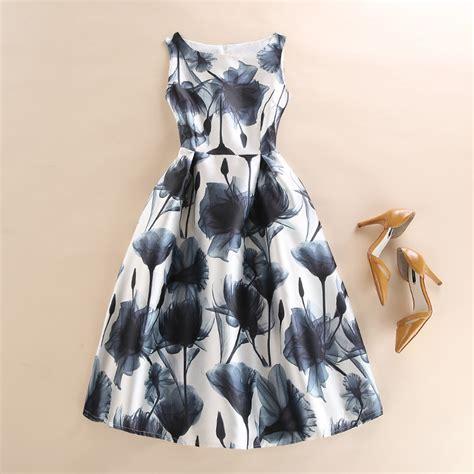 vest dresses a line dress vintage graffiti floral printed ヾ ノ