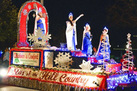 comfort christmas parade winter blows in just in time for holiday events texas