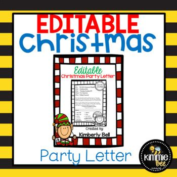 editable elf class christmasholiday party letter