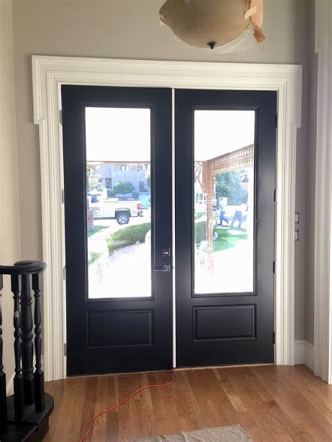 benjamin moore onyx mel liza blackout painting doors and windows