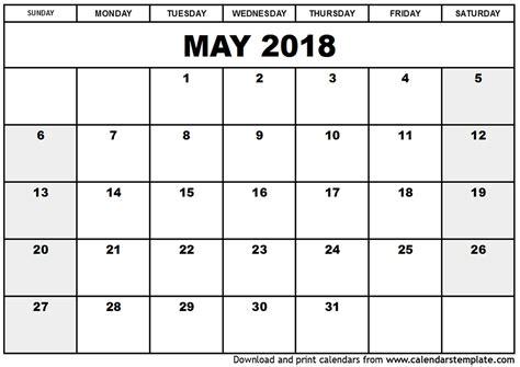 printable calendar may 2018 printable calendar may 2018 pdf journalingsage com