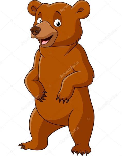imagenes animados de osos pie de oso gracioso de dibujos animados vector de stock
