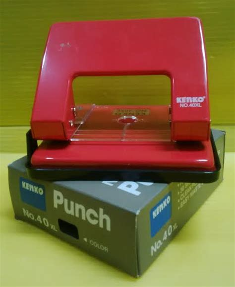 Puncher Pembolong Kertas Perforator Joyko 40 Xl 1 jual beli pembolong kertas punch kenko 40xl baru
