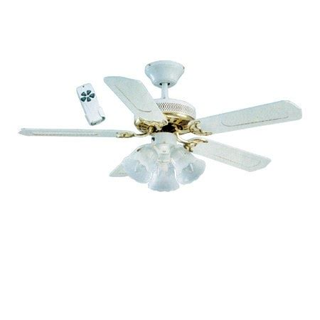 White Ceiling Fan With Light And Remote Global Santa 42 3 Light Kit Ceiling Fan With Remote In White With Polished Brass