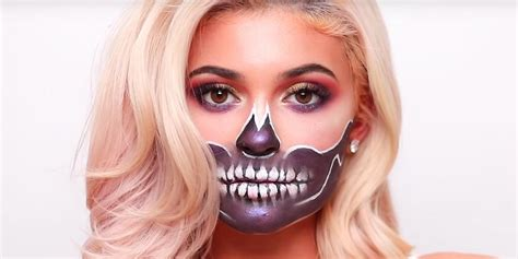 kylie jenner skull halloween makeup tutorial james