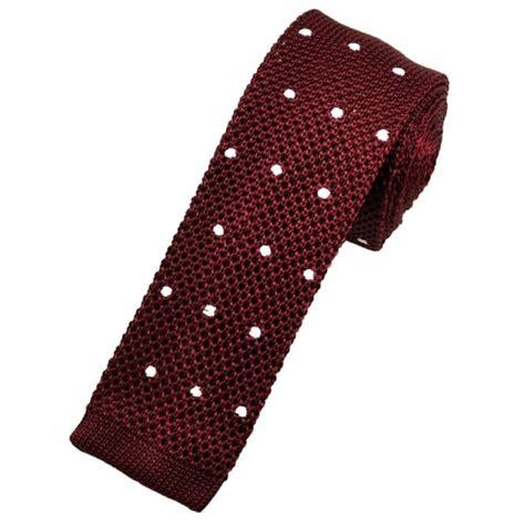 burgundy knit tie burgundy white polka dot silk knitted tie from ties
