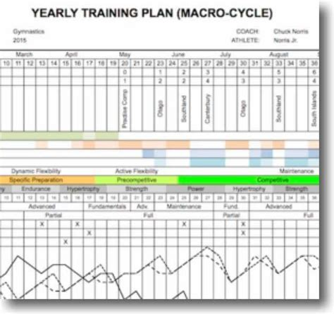 yearly training plan gymnastics coaching com