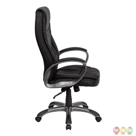 high back swivel chairs high back black leather executive swivel office chair ch