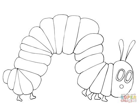 hungry caterpillar templates free hungry caterpillar coloring pages to and