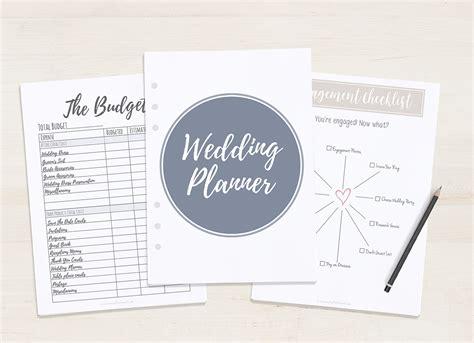 pash printable wedding planner free printable wedding planner a5 letter