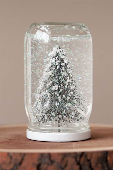 decorations mason jar snow globes for diy christmas