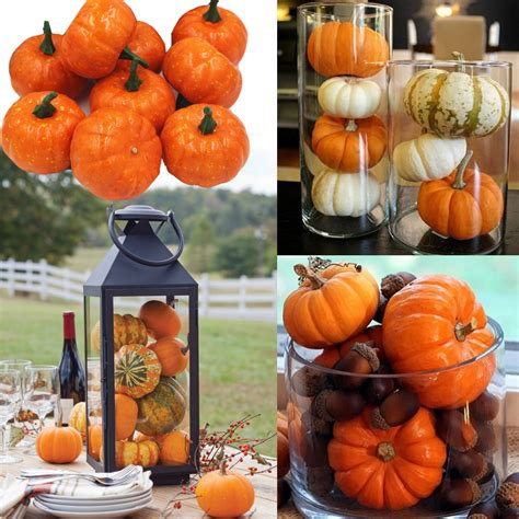 Pumpkin Vase Filler by 16pcs Pack Mini Foam Pumpkin For Thanksgiving Fall