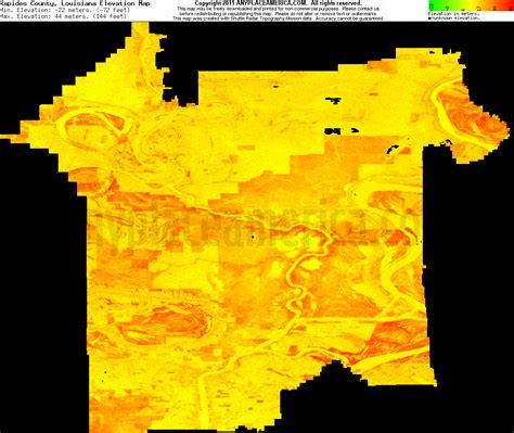 south louisiana elevation map free rapides parish louisiana topo maps elevations