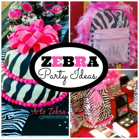 zebra themed birthday party ideas zebra patterned parties bug party ideas and lovely fall