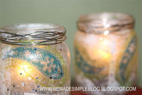 diy baby food jar crafts remadesimple pretty repurposed tea light holders