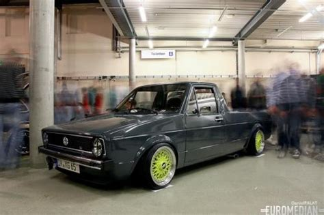 volkswagen rabbit pickup stanced stanced cars