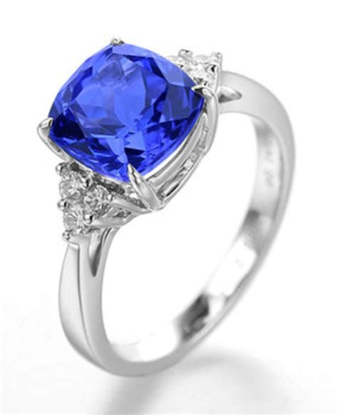 1 50 carat blue sapphire and halo engagement ring