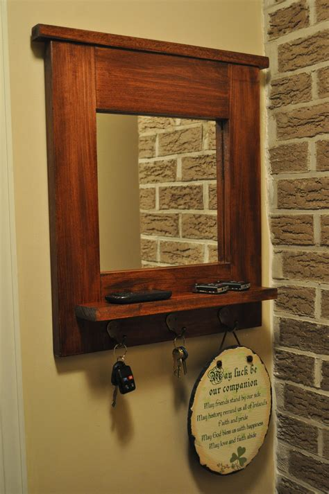 entry way mirror entryway mirror with key hooks natural interior design