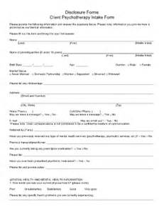 psychotherapy intake form template client intake form forms and templates fillable forms