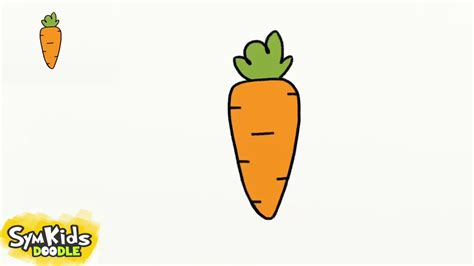 how to a how to draw a carrot