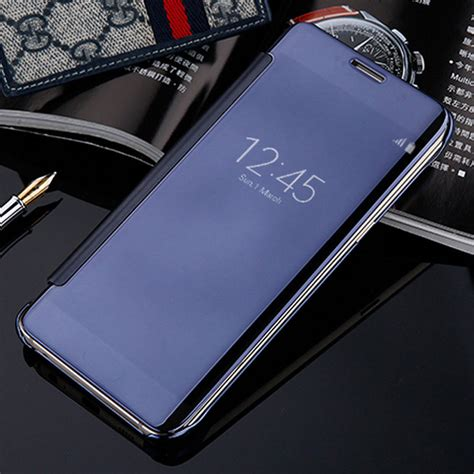 Flip Cover S View Samsung Galaxy A5 2017 A520 Auto Lock Flipcover smart flip for samsung galaxy a3 a5 a7 2017 a320f a520f a720f mirror clear view leather