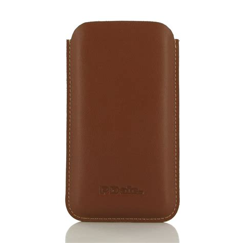 Diskon Leather For Iphone 7 7plus Brown iphone 7 plus leather sleeve brown pdair pouch
