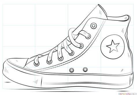 how to color shoes how to draw a converse shoe step by step drawing tutorials