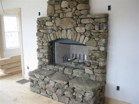 river rock fireplace surround how to build a river rock fireplace fireplace