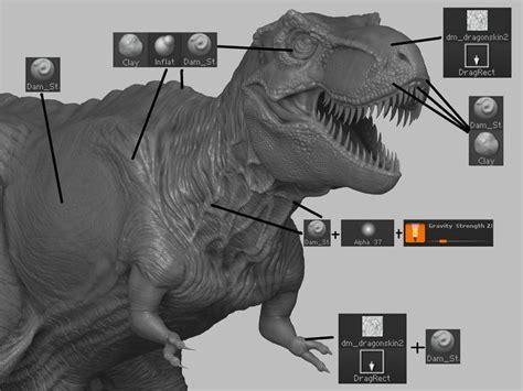 zbrush dinosaur tutorial artstation dinosaur diorama yosimura tatsuya 3d