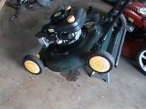 stop  lawnmower  dripping oil youtube