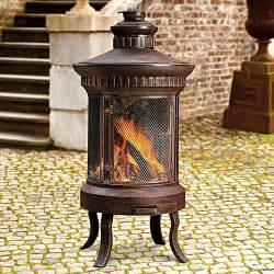 feuerstelle terrasse antikdesign klassische atrium feuerstelle behaglichkeit