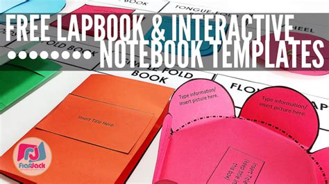 Free Editable Lapbook Interactive Notebook Templates When You Free Editable Flip Book Template