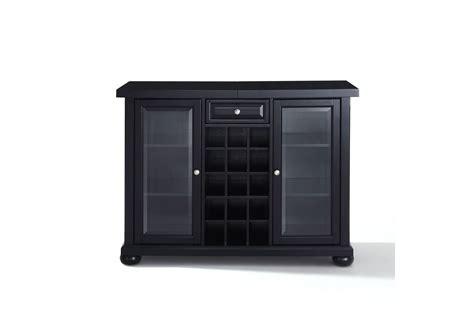 sliding top bar cabinet alexandria sliding top bar cabinet in black finish by crosley