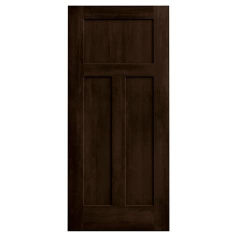 solid core interior doors home depot jeld wen 36 in x 80 in stained espresso 3 panel solid