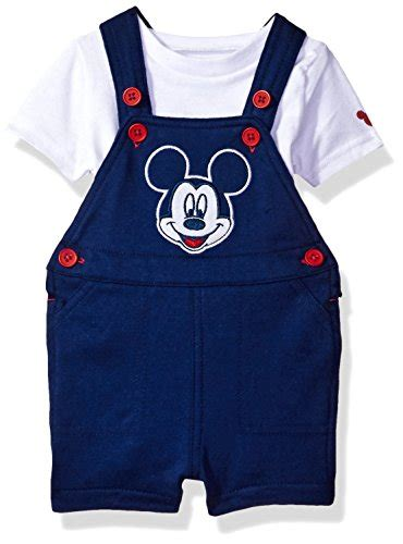 Hoodie Mickey Boy Cloth baby boy clothes disney baby boys mickey mouse 2 shortall and t shirt set white 0 3