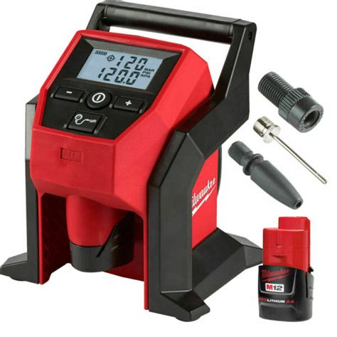milwaukee   cordless compact inflator  battery  p  sale  ebay