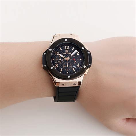 Jam Tangan Megir megir jam tangan analog mn3002 white gold