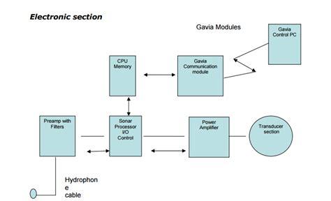 electronic section sonar training target based on multipurpose auv tecotec