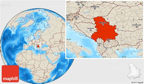 where is serbia located on the world map montenegro location gallery