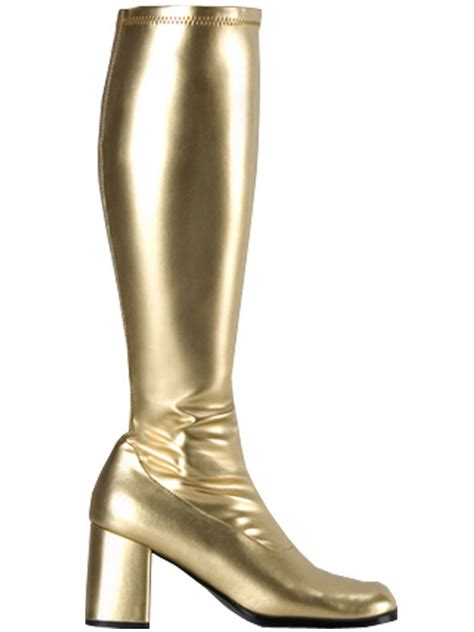 gogo boots gold gogogld fancy dress