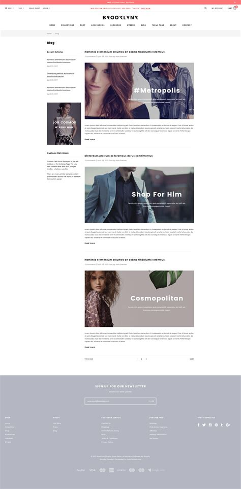 brooklynk responsive fashion shopify template sections