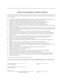 Employee Vehicle Use Agreement Template by Company Vehicle Use Agreement