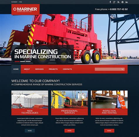 free website templates for construction company 20 construction company html templates free website