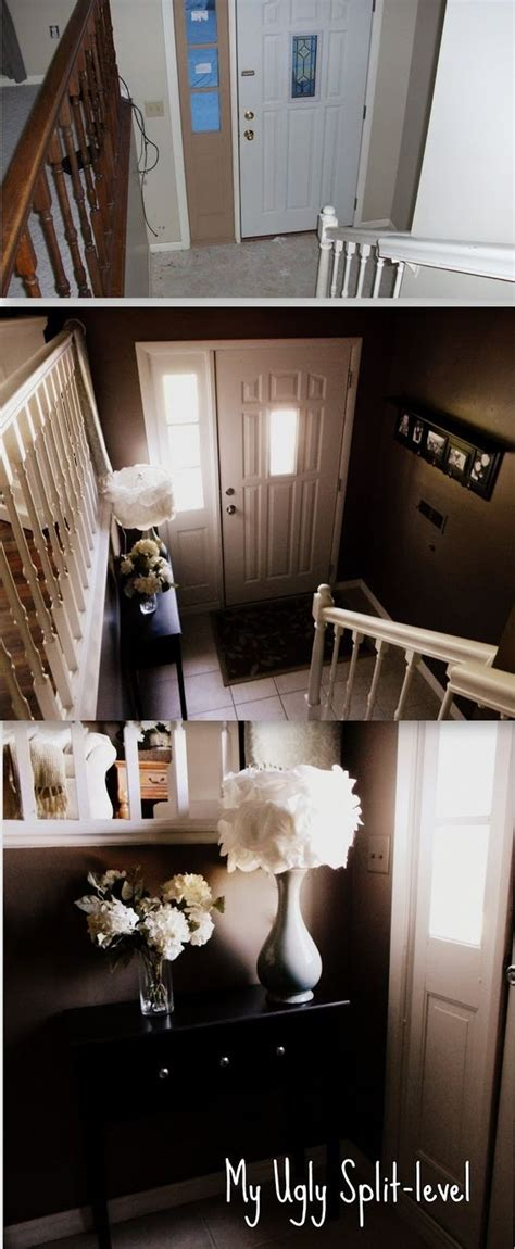 my foyer entryway window and tables on