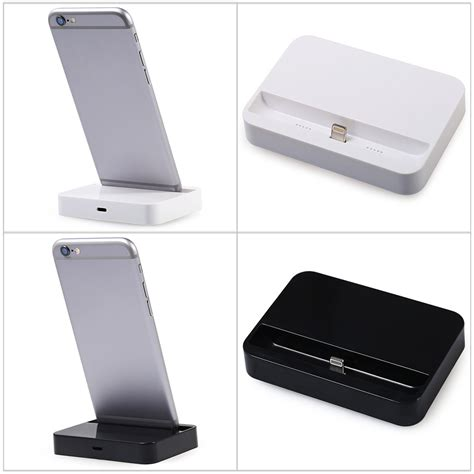 Charging Dock 8 Pin For Iphone 55s5cipod Touch 5 8pin desktop charger dock portable charging station for
