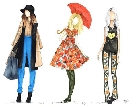 fashion illustration using markers copic marker fashion illustrations by tifforelie of offbeat inspired ilustradores