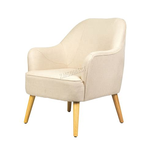 Fabric Chairs For Living Room by Foxhunter Linen Fabric Tub Chair Armchair Dining Living Room Lounge Tc10 Modern Ebay