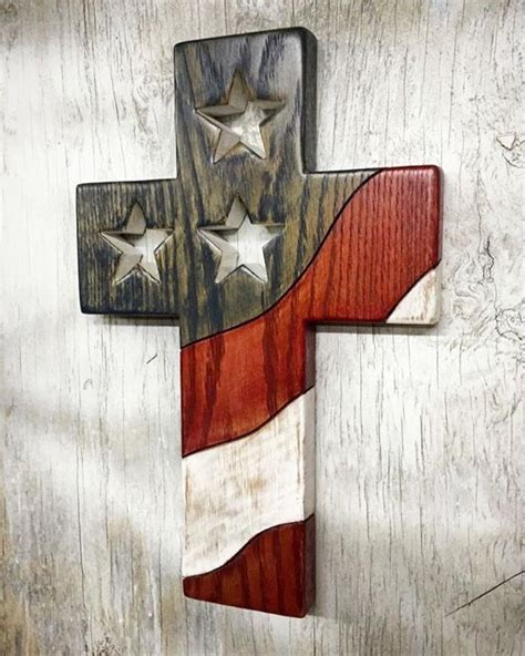 american flag cross pallet art wood crosses wood art