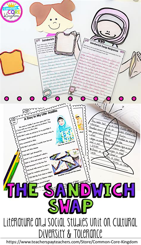 the concept of diversity in world literature unit lesson the sandwich swap unit on cultural diversity and